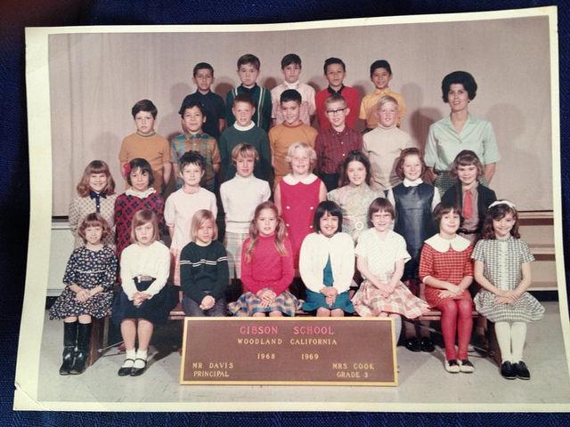 third grade class, Gibson School, Woodland, California