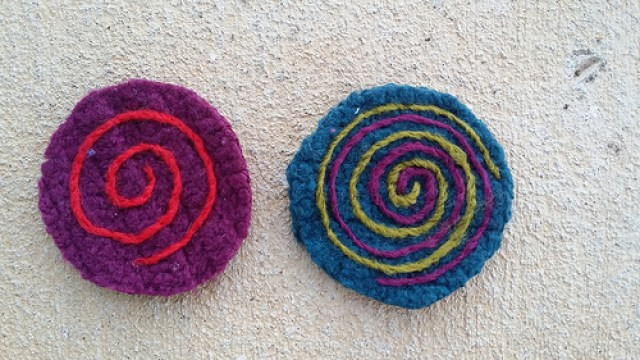 felted crochet furniture coasters