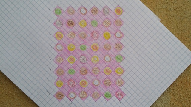 template for a crochet cookie blanket