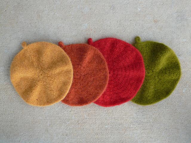 felted crochet potholders