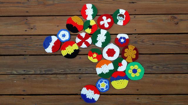 crochet hexagons and crochet pentagons for a crochet soccer ball