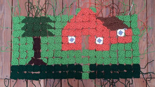 crochet granny square crochet picture blanket crochet squares