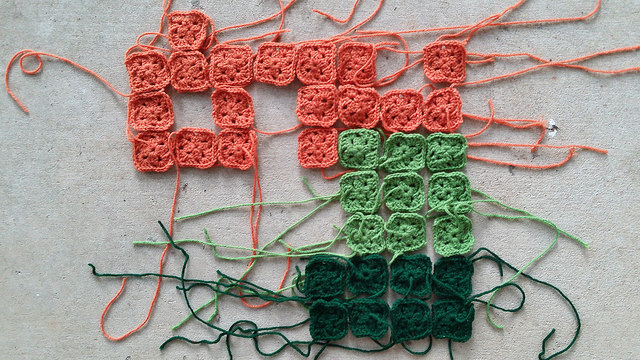 crochet squares for a crochet panel