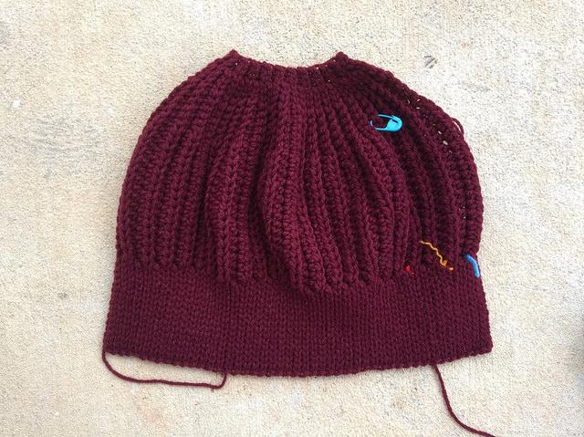 claret crochet hat