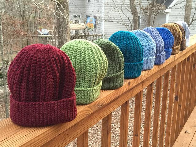 ten crochet caps