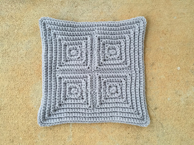 textured crochet square