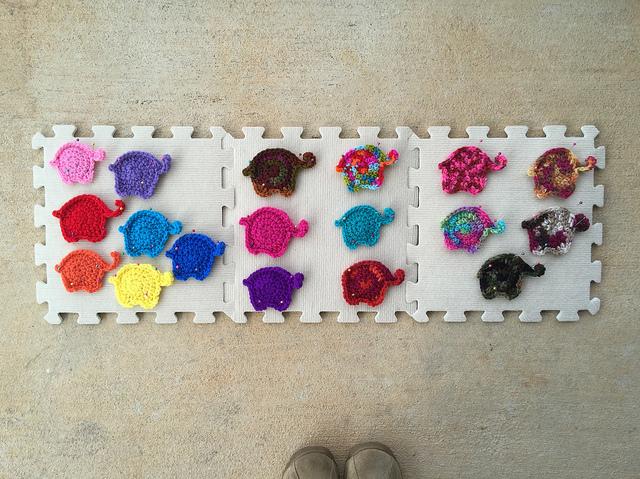 eighteen future crochet elephants