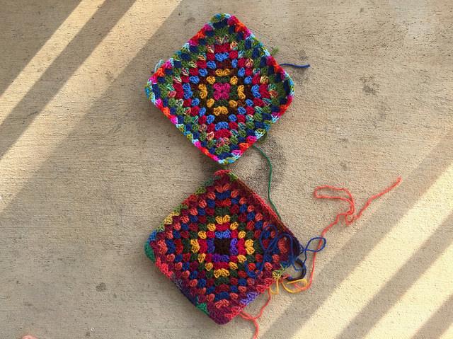 crochet purse granny squares