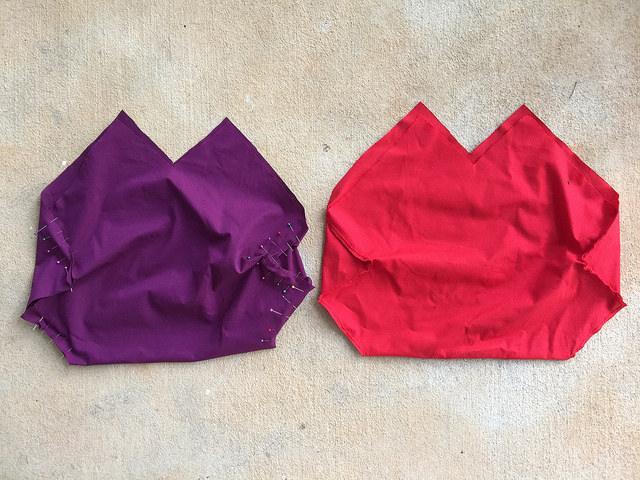 granny square bag fabric lining
