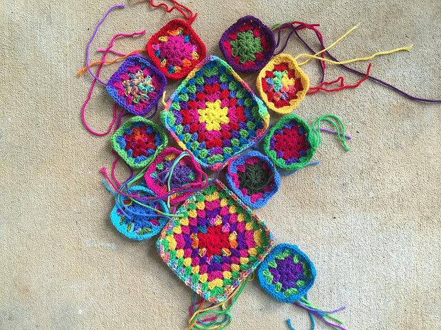 granny square purse crochet squares