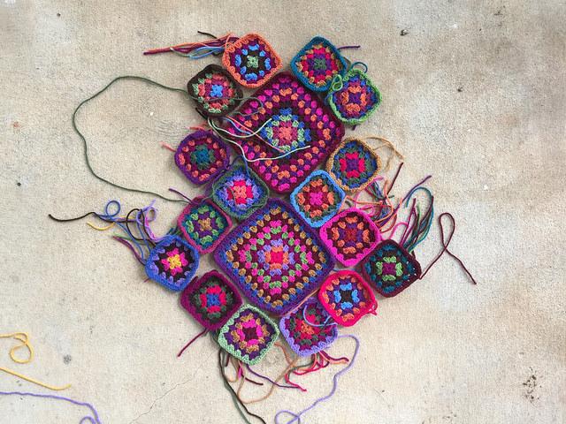 crochet purse granny square tote