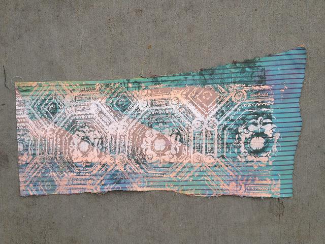 painted denim fabric