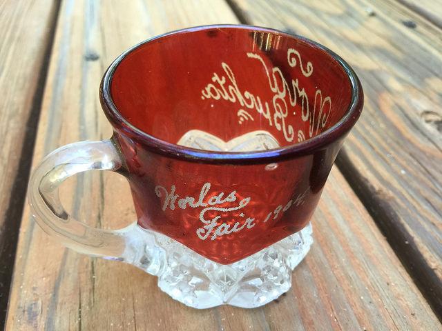 Ruby flash glass 1904 world's fair st. louis