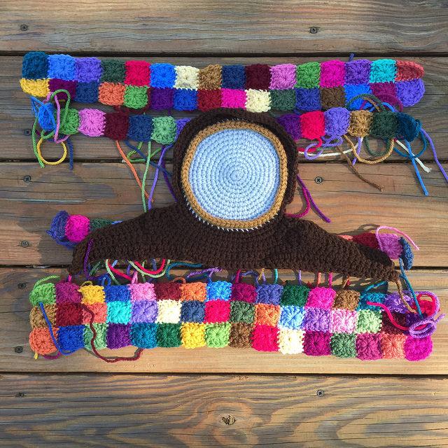 crochet clock crochet squares