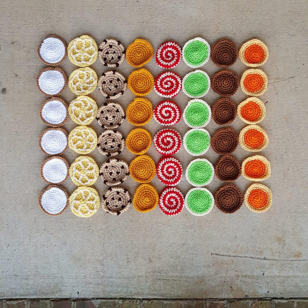 crochet cookie bar graph