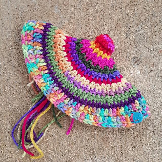 Peter Max alpine crochet hat