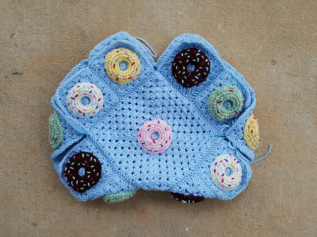 crochet donut bag