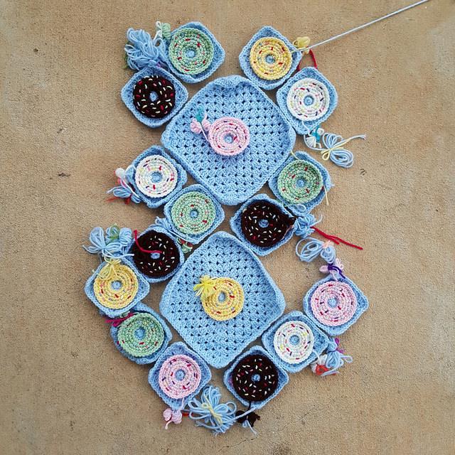 crochet squares crochet donut crochet purse