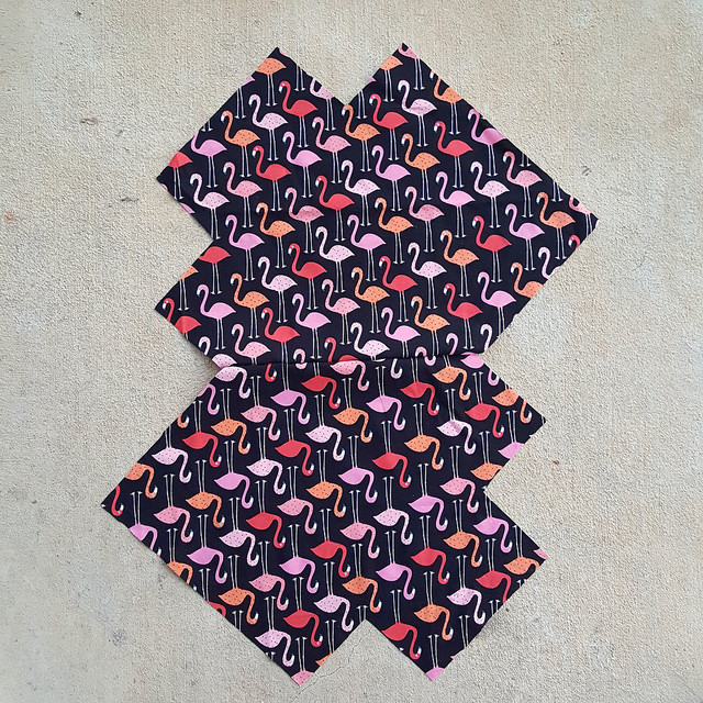flamingo fabric lining