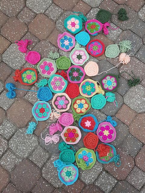 crochet hexagon and crochet pentagon motifs for a crochet soccer ball