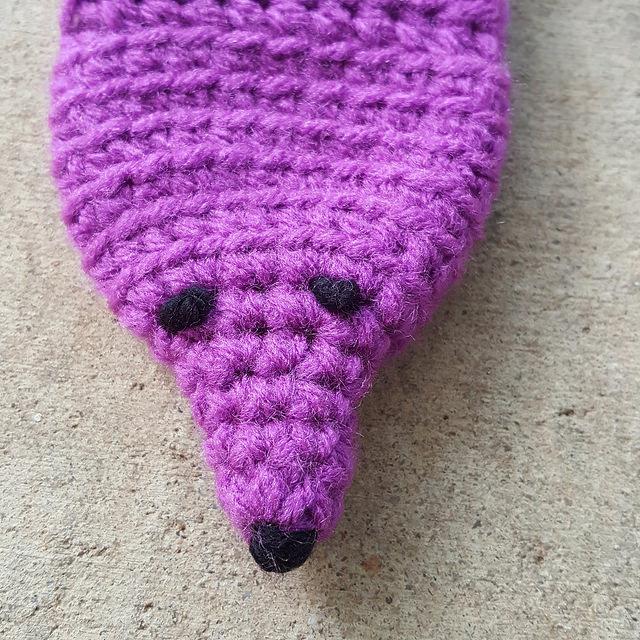 A crochet mink crochet vinx face