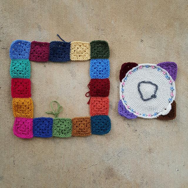 granny squares crochet corner