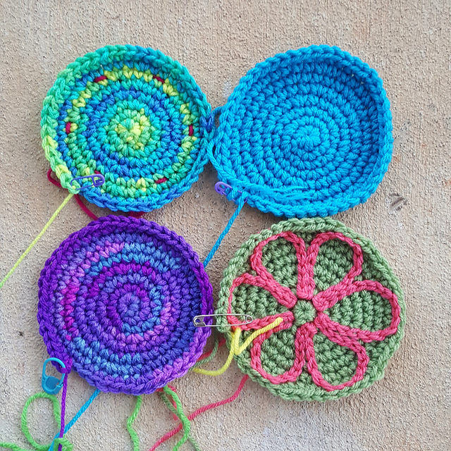 crochet power flowers