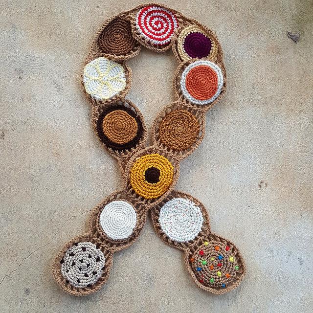 crochet cookie crochet scarf ready to wear