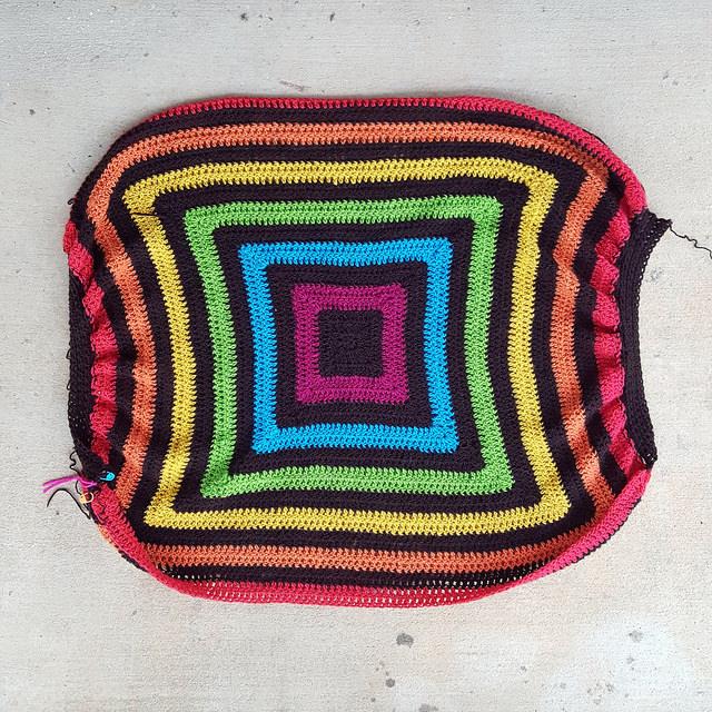 Future crochet granny square fat bag