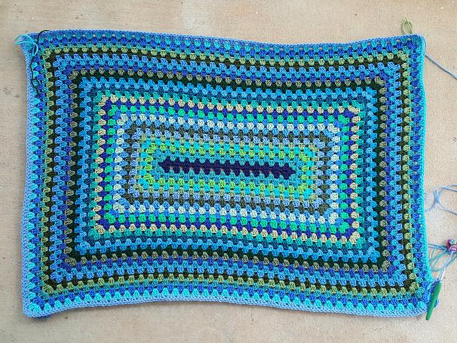 granny rectangle crochet blanket