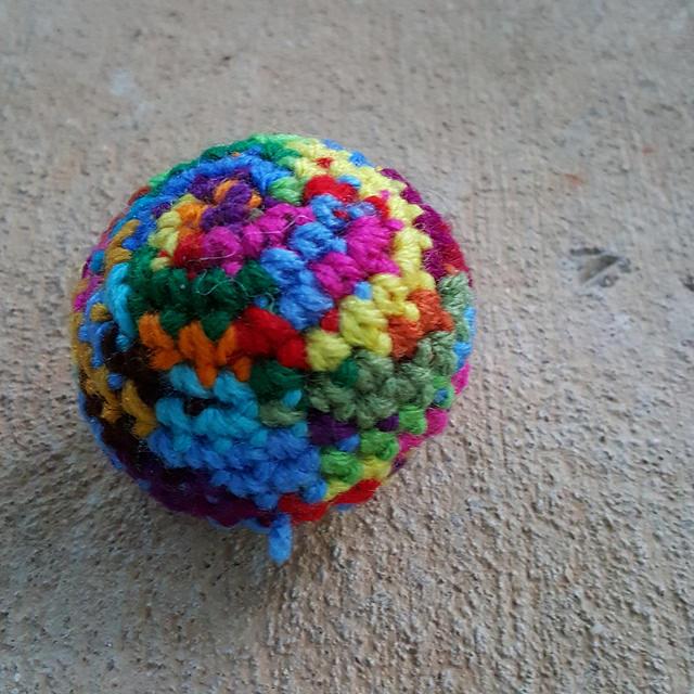 scrap crochet sphere