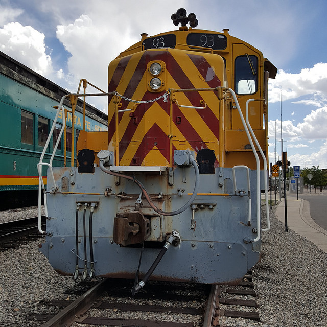 Train engine, Santa Fe, New Mexico, crochetbug