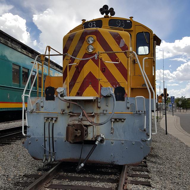 Train engine, Santa Fe, New Mexico, crochetbug