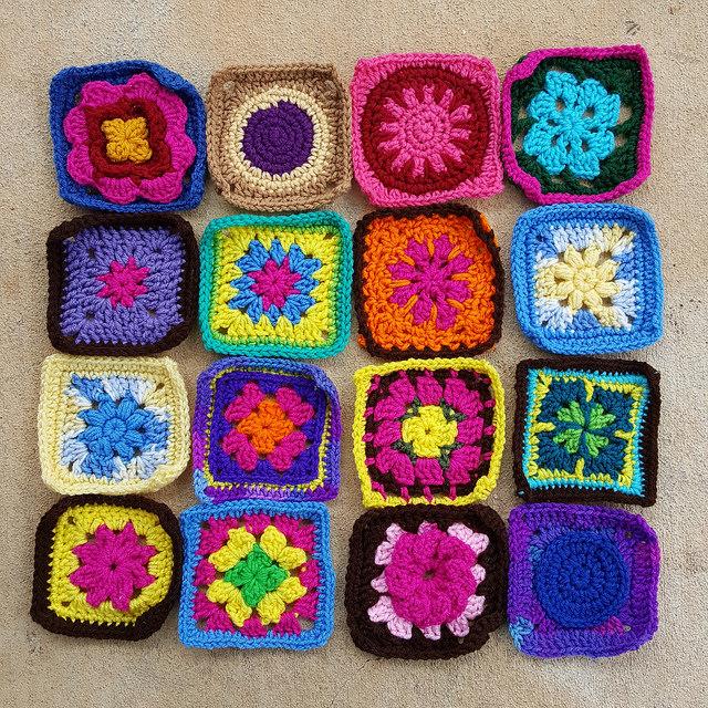 crochetbug, Jean Leinhauser, 101 Crochet Squares, granny square, crochet blanket, crochet afghan