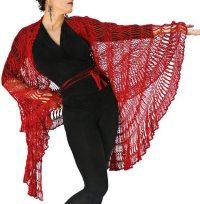 Broomstick Lace Shawl Crochet Pattern ~ Pakbit for