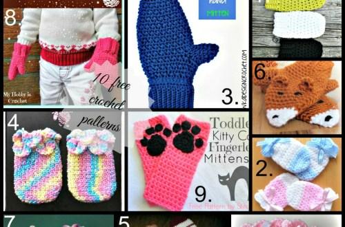 Link list 16 Crochet Baby/Child Mittens