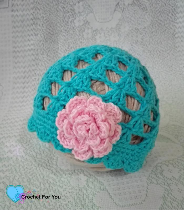 Easy Peasy Baby Beanie Free Crochet Pattern