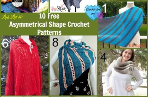 10 Free Asymmetrical Shape Crochet Patterns