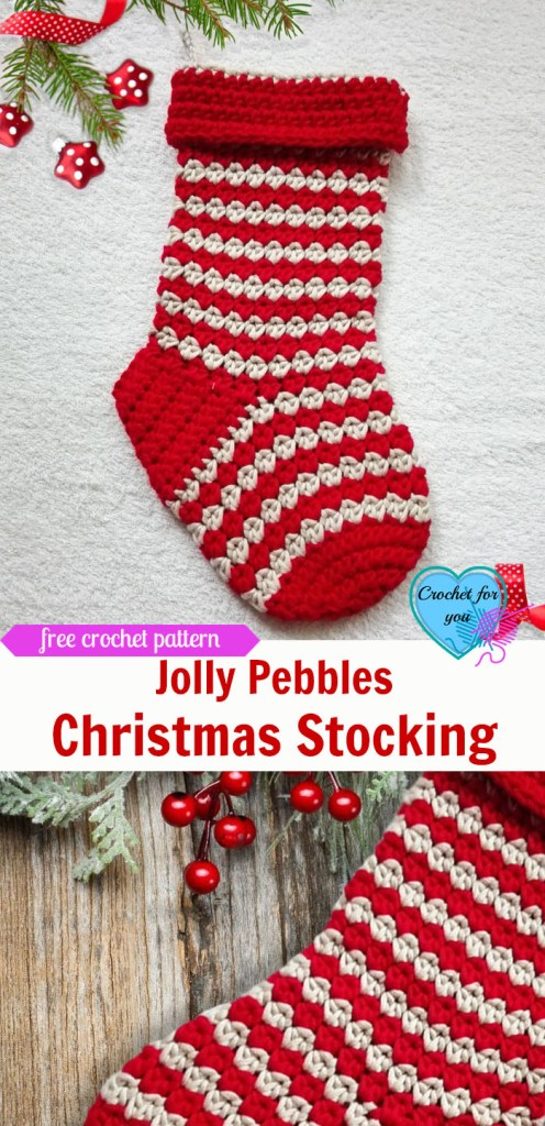 Jolly Pebbles Crochet Stocking Free Pattern