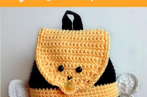 Crochet Bumble Bee Backpack - free crochet pattern