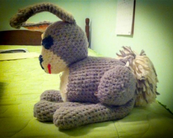 Crocheted Amigurumi Rabbit