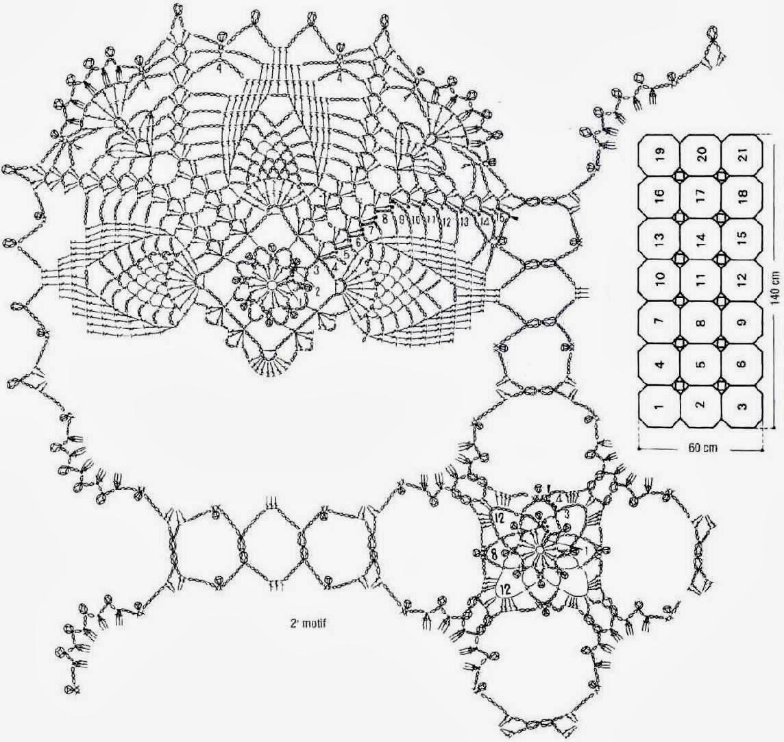 Crochet Patterns Of Lace Tablecloth ⋆ Crochet Kingdom
