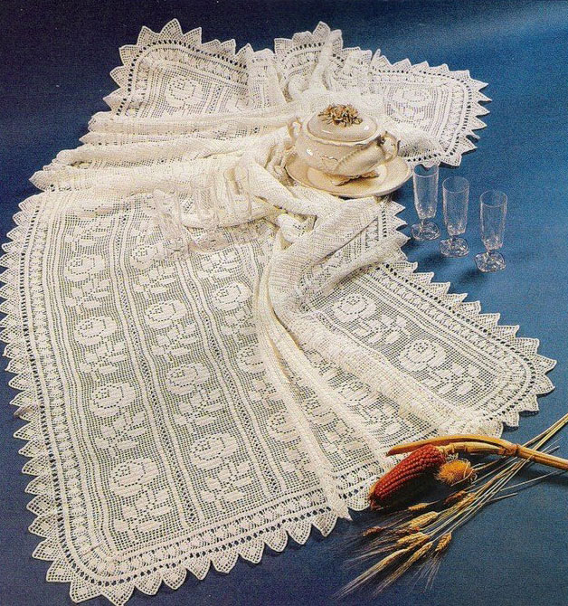Rose Crochet Tablecloth  Crochet Kingdom