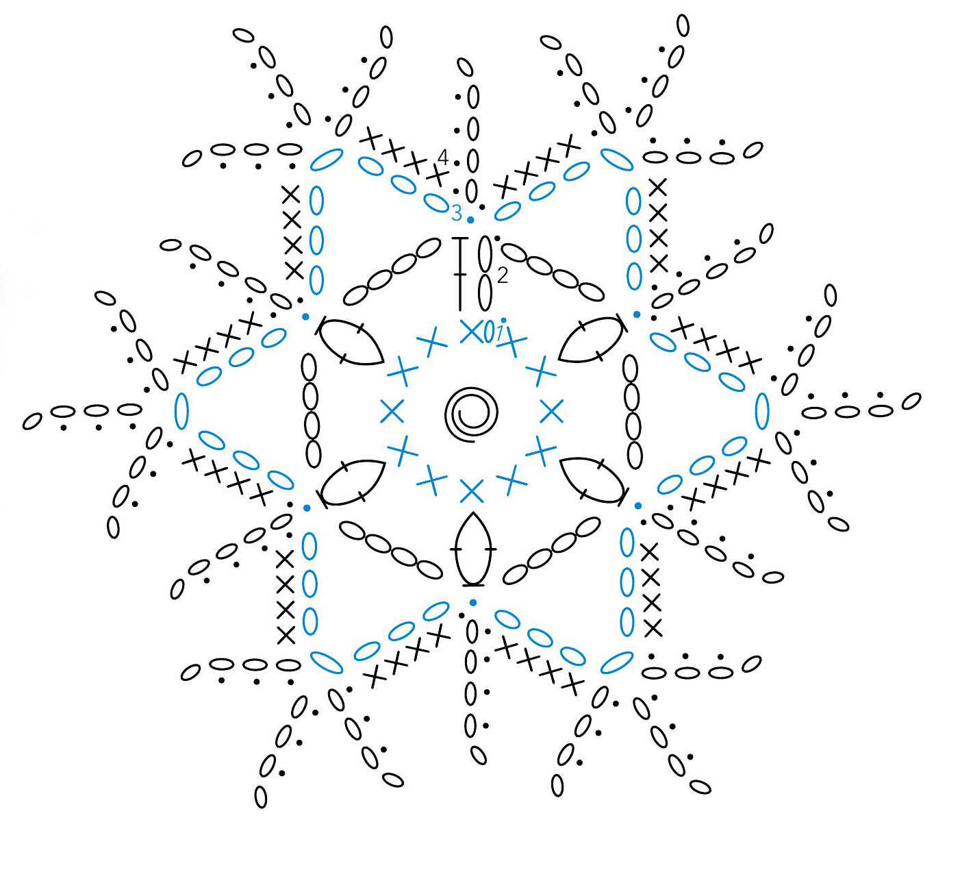 Snowflake Crochet Diagram Crochet Kingdom