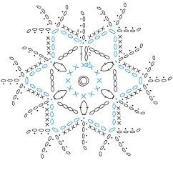 Diagram Crochet Coaster Plot For The Book Thief Snowflake  Kingdom