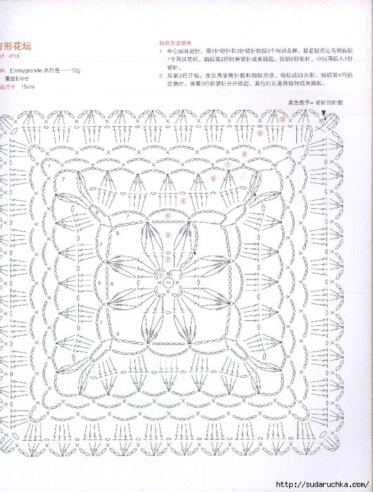 15cm Square Doily ⋆ Crochet Kingdom