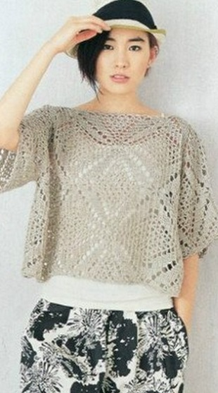 Square Motif Crochet Blouse Pattern  Crochet Kingdom