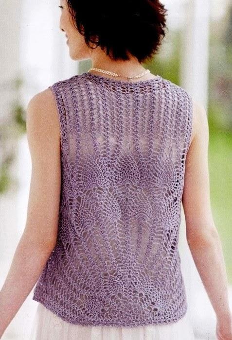 Pineapple Stitch Crochet Vest  Crochet Kingdom