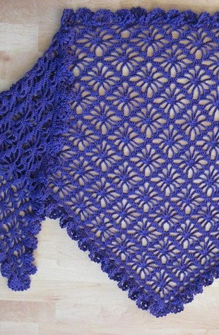 Crochet Diamond Stitch Shawl  Crochet Kingdom