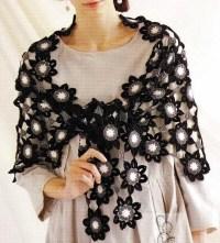 Shawl Crochet Pattern - Flower Motif  Crochet Kingdom